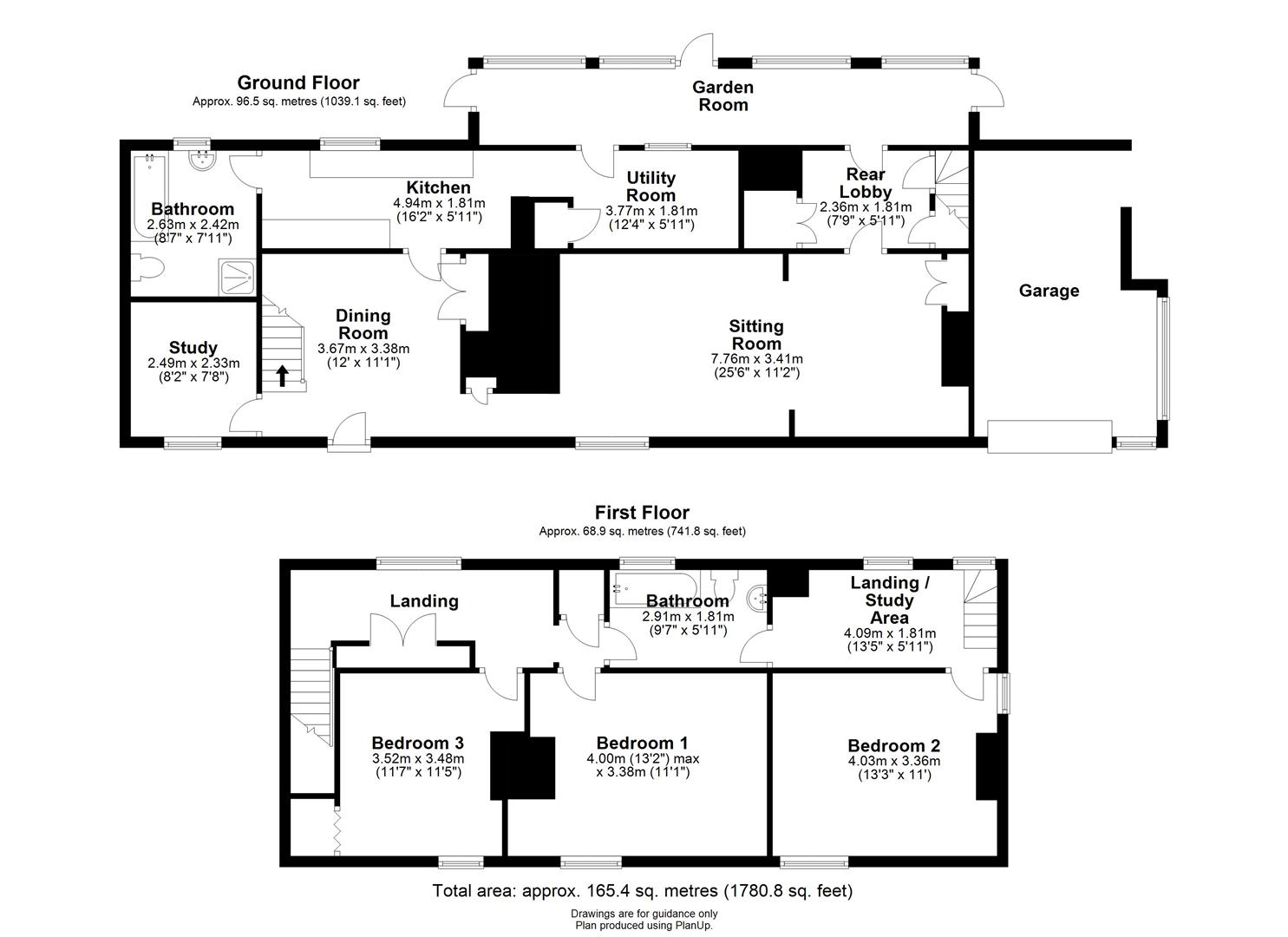 Floor plan High Street, Fen Ditton, Cambridge
